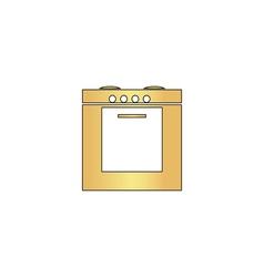 Stove computer symbol vector