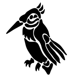 Tattoo of a bird vector image vector image