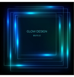 tech design glowing frame vector image vector image