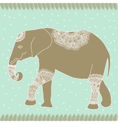 Tender elephant vector image