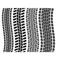 tyre prints vector image vector image