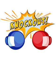 Expression knockout with two boxing gloves vector