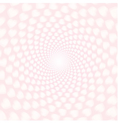 Twisted hearts with tunnel effect vector