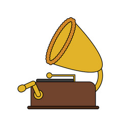 color image old gramophone musical sound icon vector image