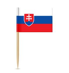 Slovakia flag toothpick vector