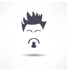 Face of a man with a beard vector image
