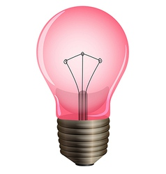 A pink light bulb vector