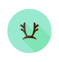 Christmas antlers flat icon vector