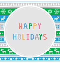 Happy holidays10 vector
