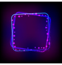 Glowing frame against dark background vector