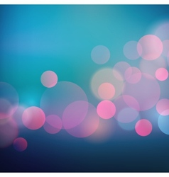 Abstract holiday light background with bokeh vector