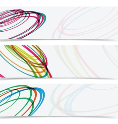 Abstract curve circle banner header background vector