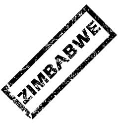 Zimbabwe rubber stamp vector