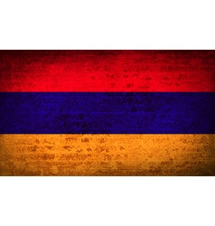 Flags armenia with dirty paper texture vector