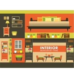 ineterer set of objects vector image