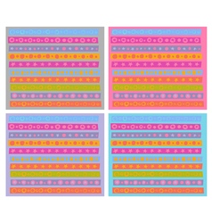 Cheerful decorative border pattern collection vector
