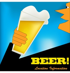 Cheers beer background vector