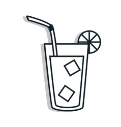 Delicious and refreshing limonade on glass vector