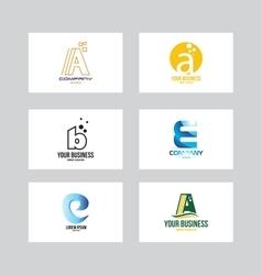 Alphabet logo icon letter set vector image vector image