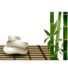 Bamboo and stones vector