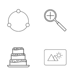 Basic elements outline icons set linear icon vector