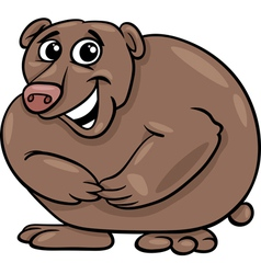 bear animal cartoon vector image vector image