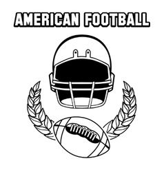 Black and white american football emblem vector