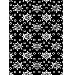Black and white floral stencil pattern vector