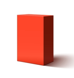 Blank red box vector image