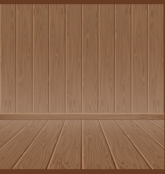 Brown wood textured wall and floor vector
