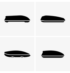 Car roof boxes vector image vector image