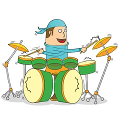 Cartoon drummer vector