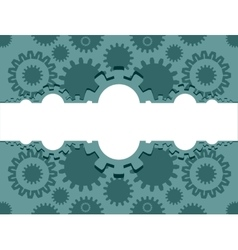 cog wheels background vector image vector image