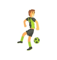 Football player flanking isolated vector