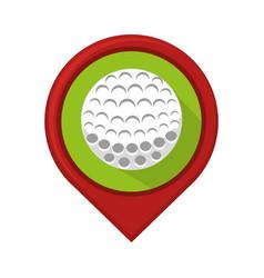 golf sport ball emblem icon vector image