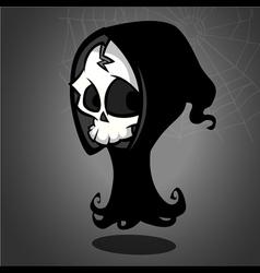 Halloween grim reaper cartoon vector