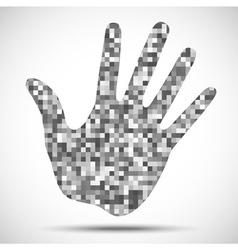 Hand print pixel texture vector