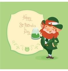 Happy Saint Patrick Day gratters Leprechaun vector image vector image