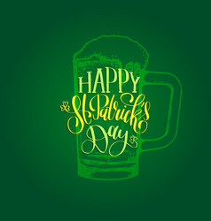 Happy saint patricks day hand lettering vector