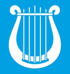 Harp icon white vector