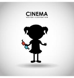 Kids moviegoers vector