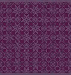 Korean traditional violet flower pattern vector