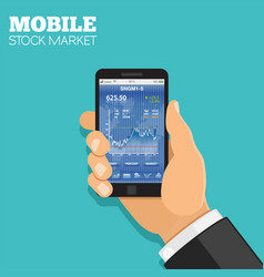 mobile stock market vector image