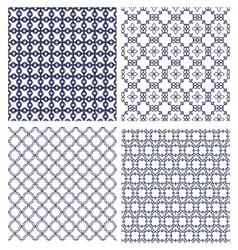 monochrome line patterns vector image vector image