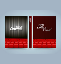 Movie cinema premiere poster design banner film vector