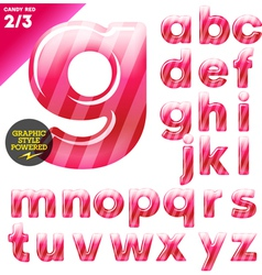 Multicolor children candy alphabet vector image