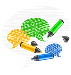 scribbled speech bubles vector image