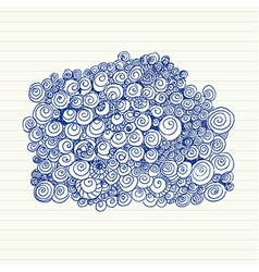 Spiral doodles vector
