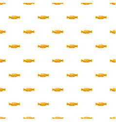 Sweet candy in yellow wrap pattern vector