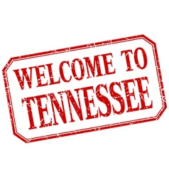 Tennessee - welcome red vintage isolated label vector